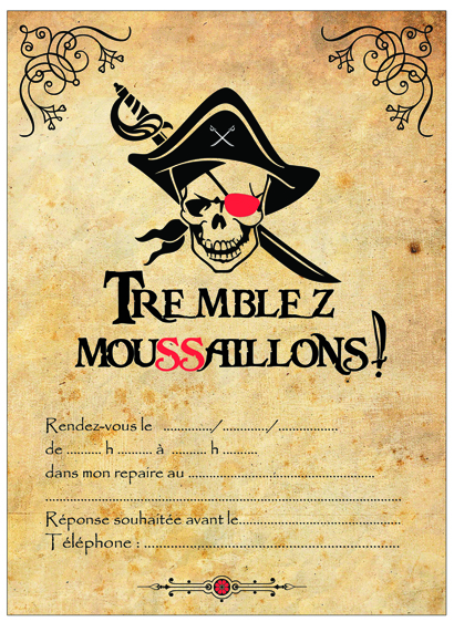 invitation pirate parchemin-miniature