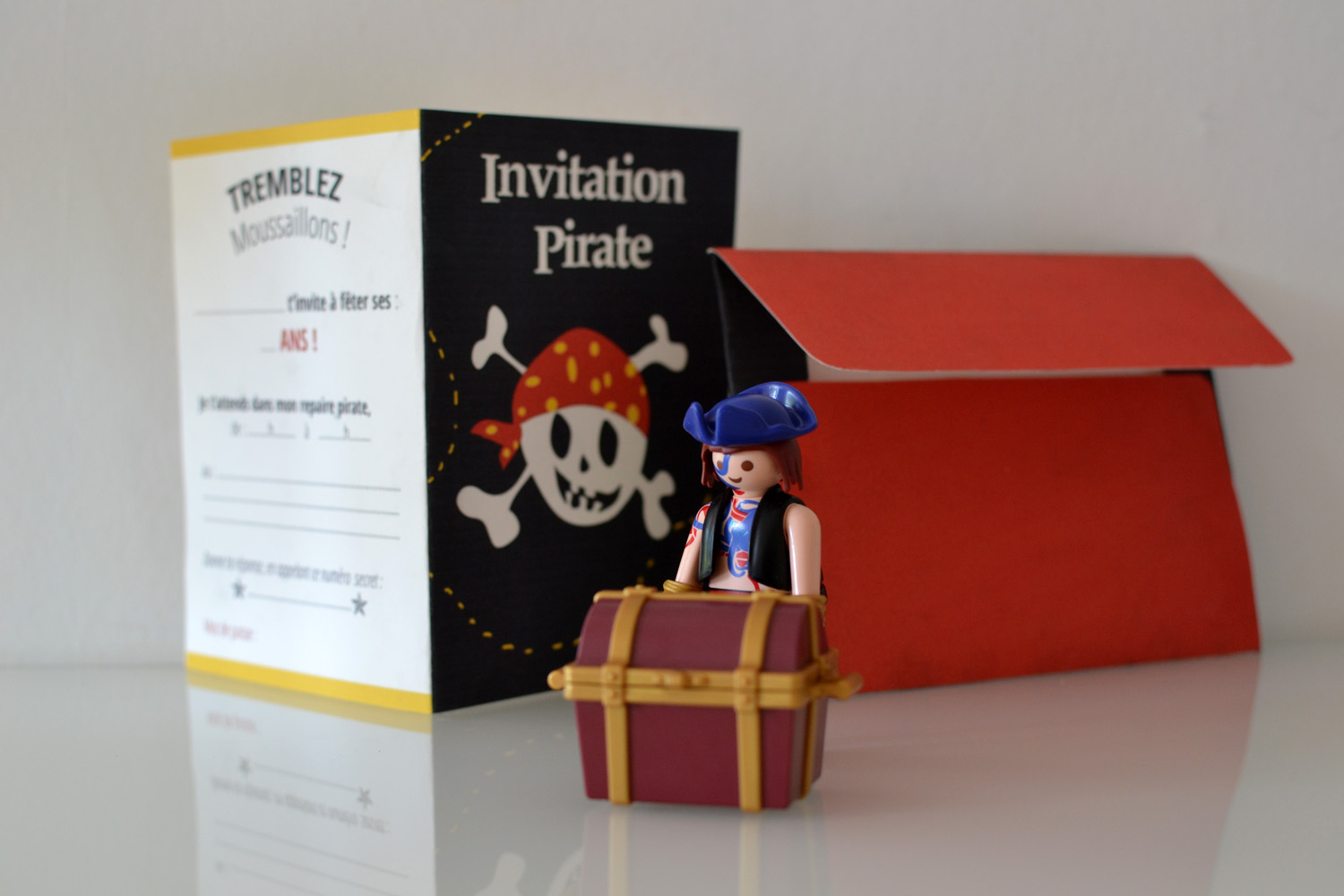 carte en francais petit pirate avec playmobil