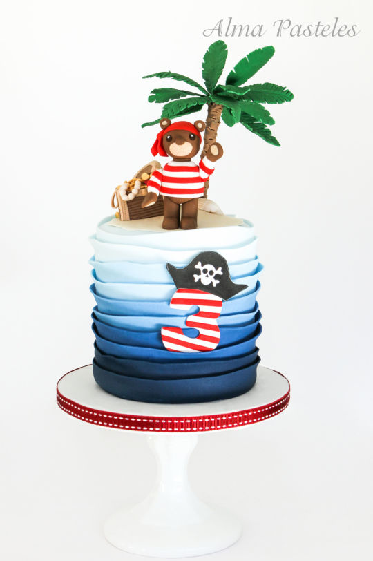 Gateau anniversaire pirate nounours - Cake Decor