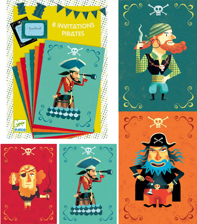 carte d'anniversaire pirate Djeco