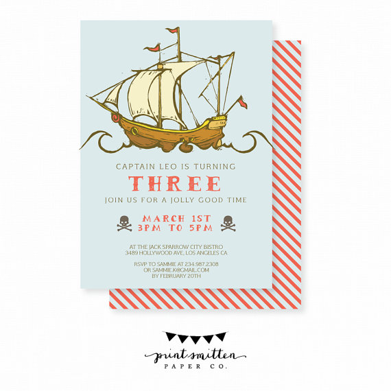invitation pirate printable etsy PrintSmitten