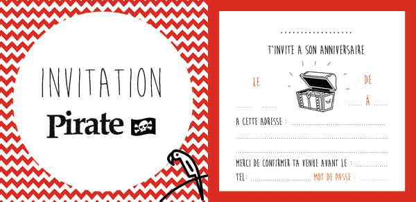 Invitations Pirate Gratuites En Francais