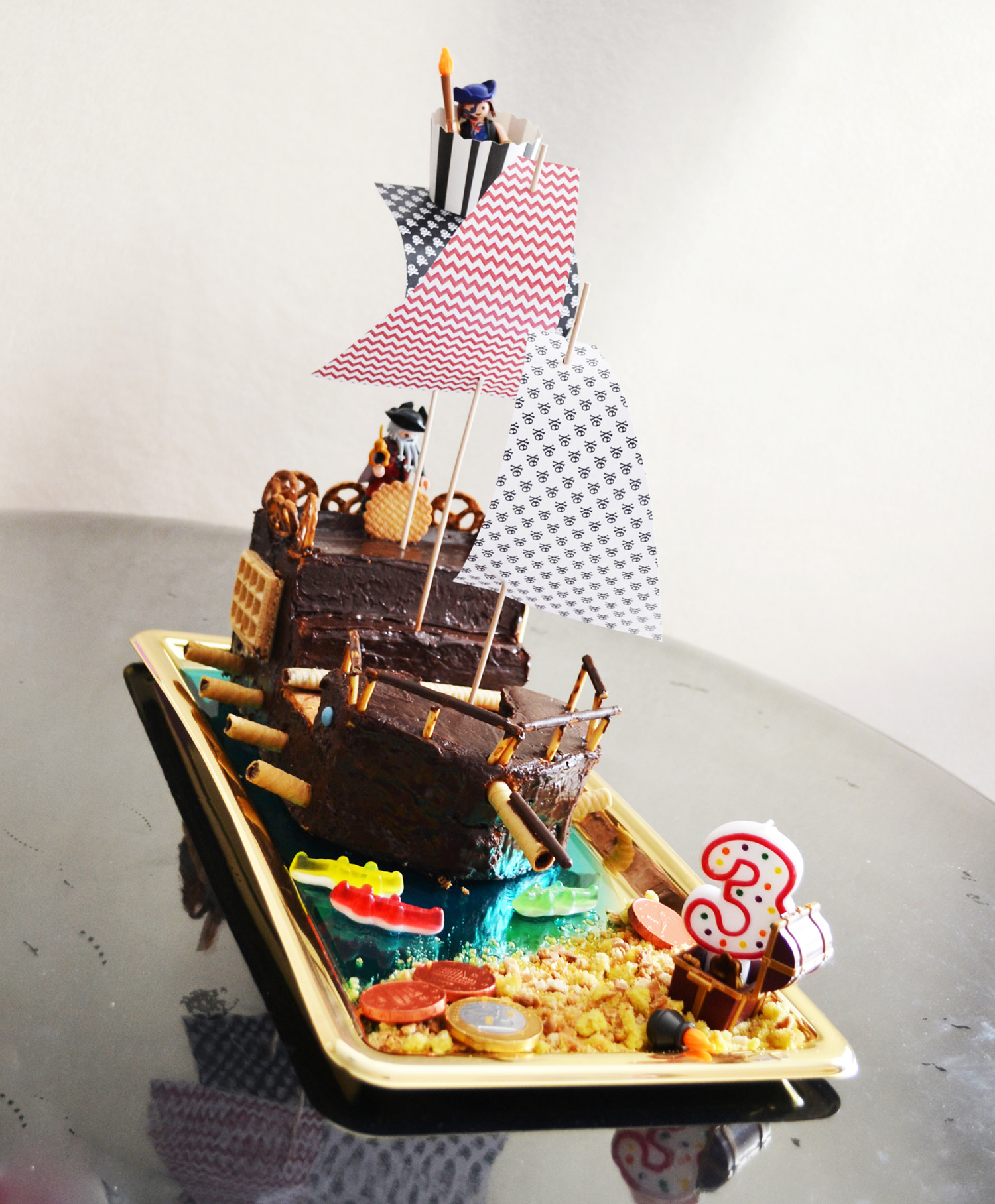 photo de gateau pirate 3 ans