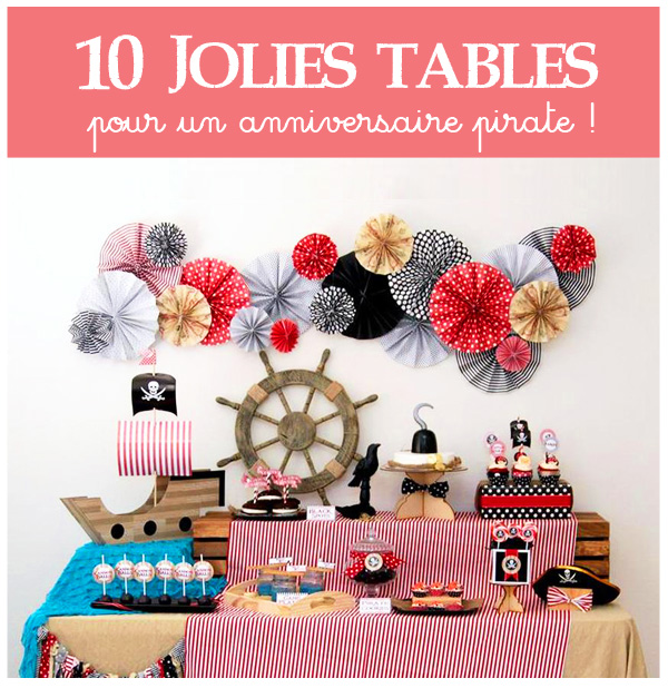 déco de table anniversaire pirate