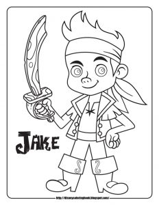 coloriage-jake-le-pirate