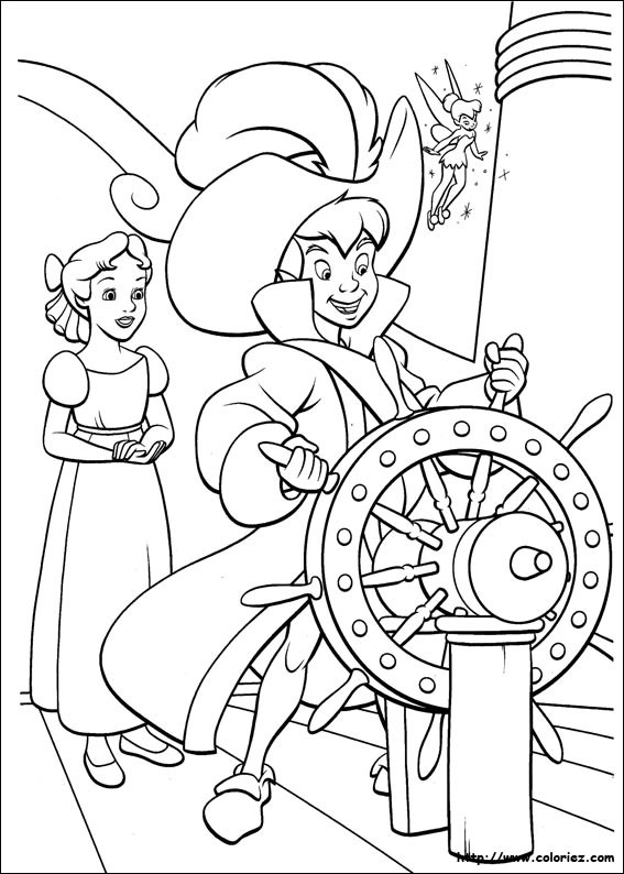 Coloriage pirate mon anniversaire pirate - Coloriages peter pan ...