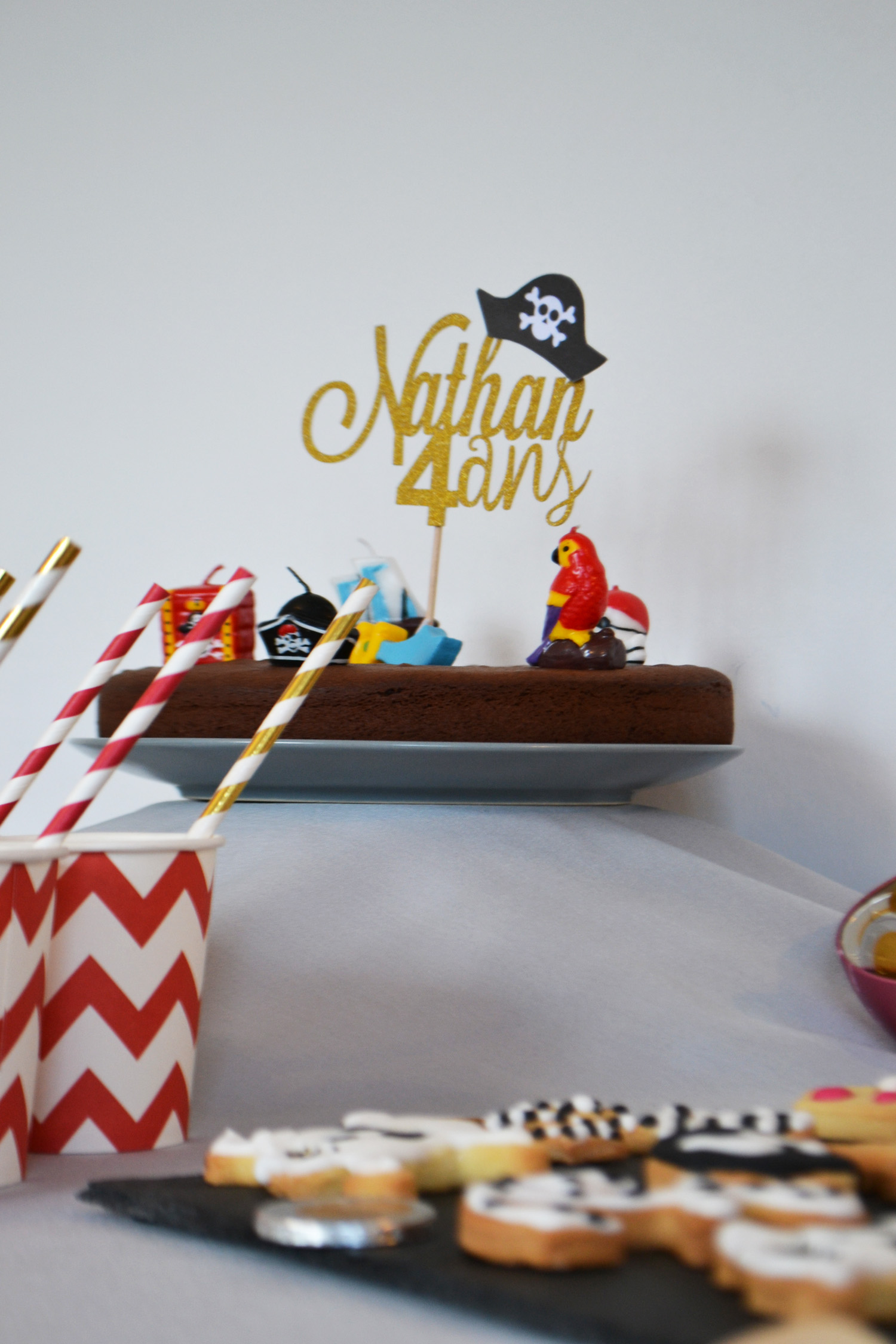 gateau pirate bougies amscan