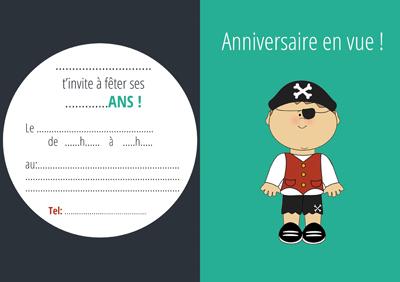 carton invitation pirate garçon-miniature