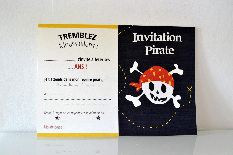 carton invitation pirate a imprimer