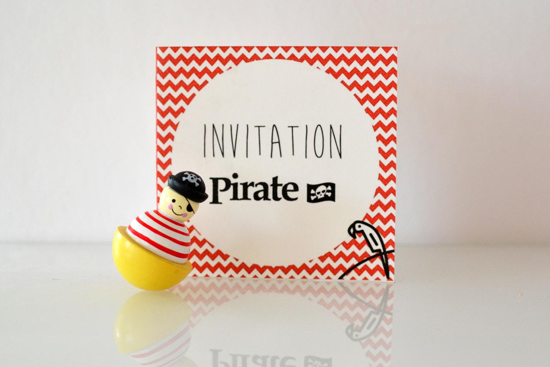 invitations pirates gratuites à imprimer et en francais