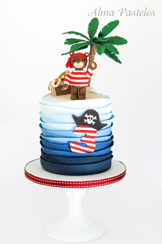 Gateau anniversaire pirate nounours - Cake Decor