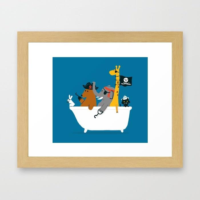 affiche- animaux-baignoire-pirate-picomodi