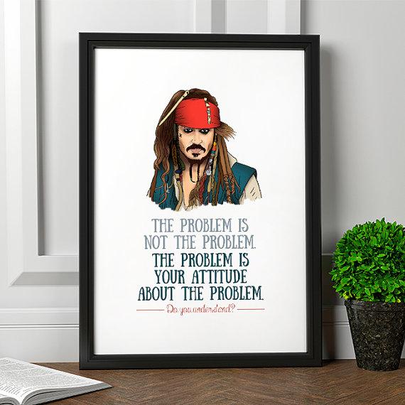 affiche pirate Jack Sparrow -pirates des Caraibes