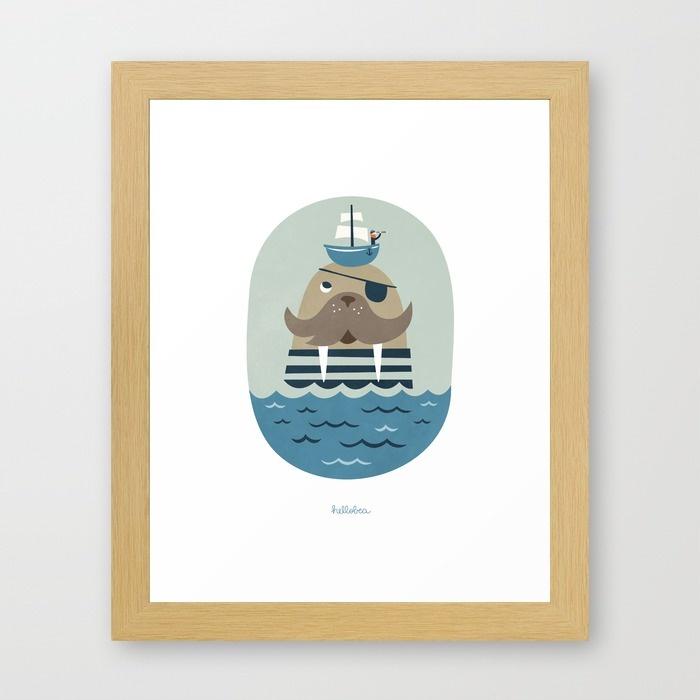 affiche-walrus-hellobea-morse-pirate