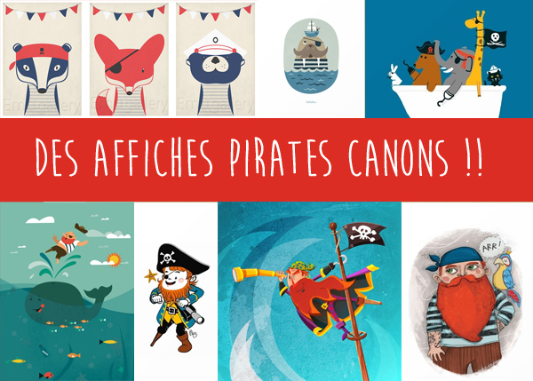 des posters pirate canons