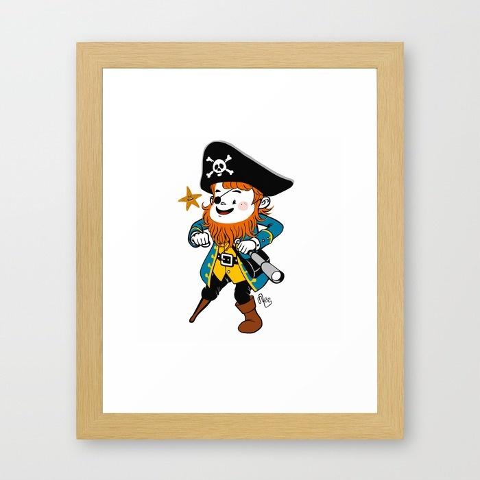dessin petit pirate et longue vue