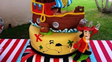 Gateau en pâte à sucre Jake et les Pirates