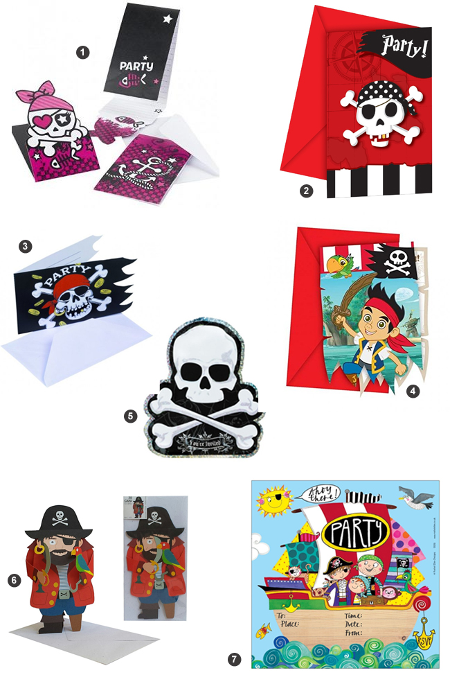 invitations pirates pas cher - moins de 10 euros