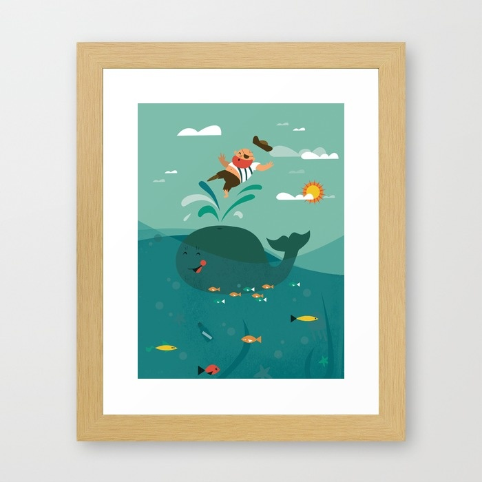 pirate et baleine -affiche pour chambre pirate