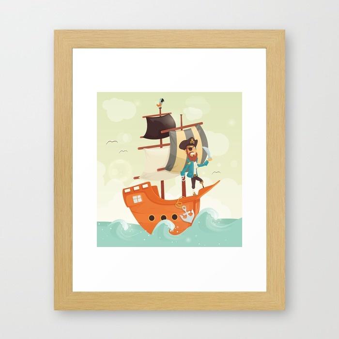 pirate-grincheux-sur-un-bateau-affiche