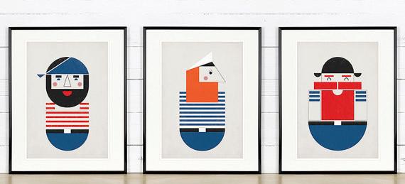 poster pirate minimaliste -style scandinave