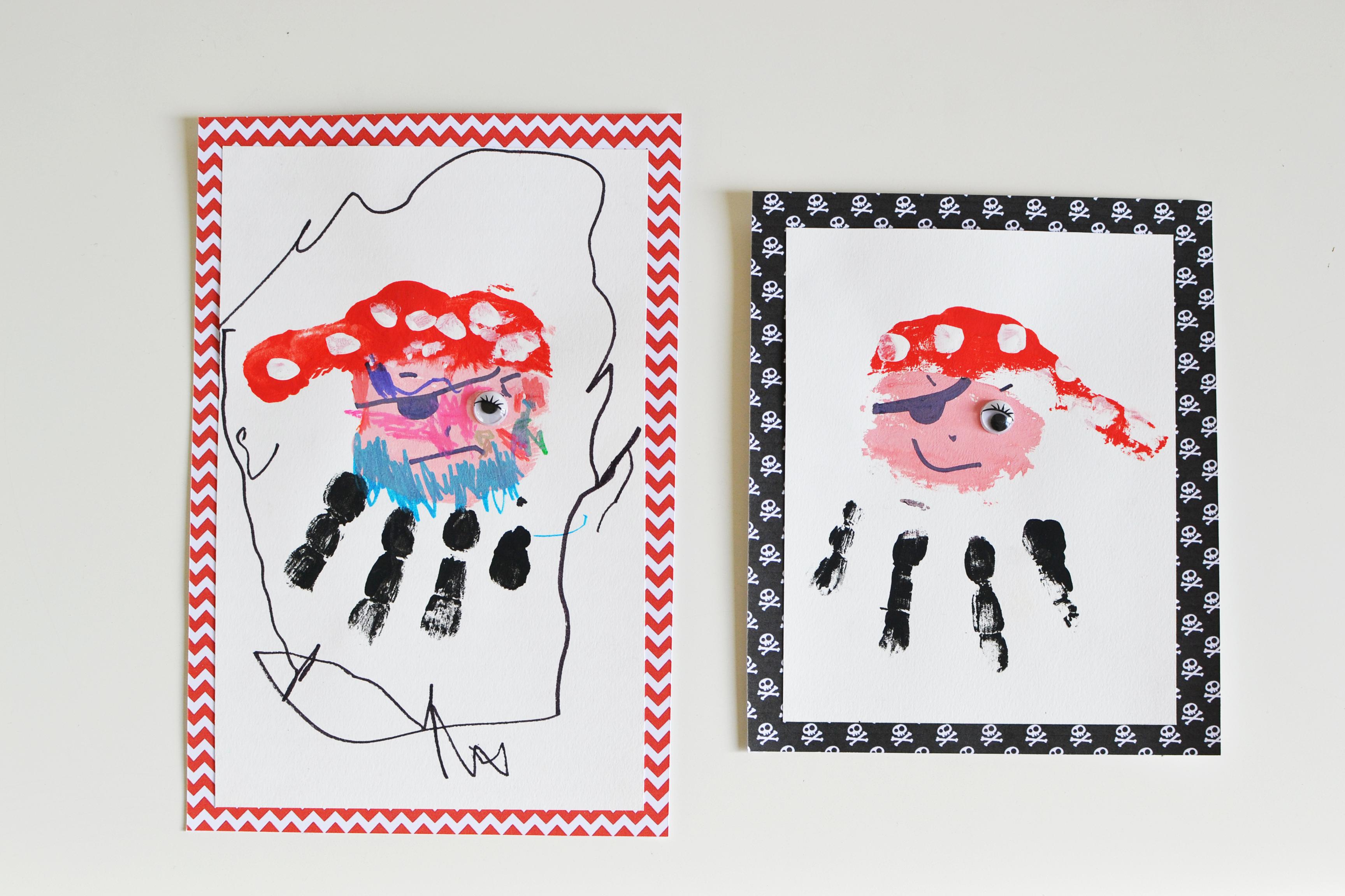 activite manuelle pirate pour un anniversaire - peinture