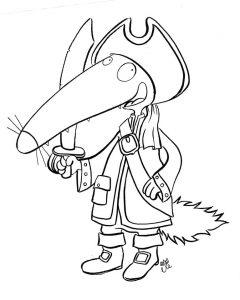 coloriage-pirate-petit-loup